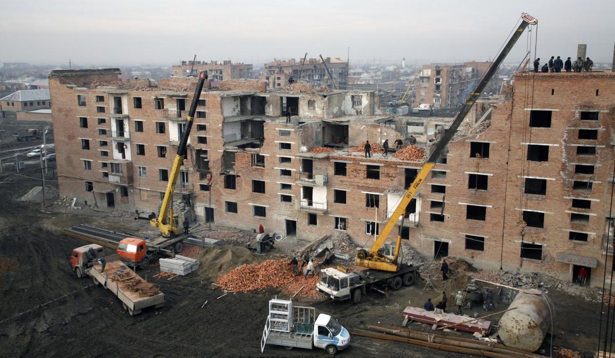 24.01.07.Wiederaufbau, Panorama Grosny
